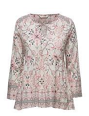 backbone l/s blouse - DESERT ROSE