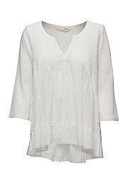spread your wings blouse - LIGHT CHALK