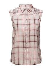 howdy sleeveless shirt - DESERT ROSE