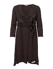 get-a-way l/s dress - BLACK LAVA