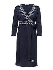 get-a-way l/s dress - DARK BLUE