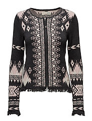 chillax cardigan - ALMOST BLACK