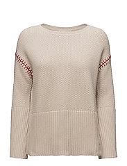 stunning sweater - LIGHT PORCELAIN