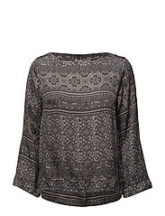 warm hearted l/s blouse - ALMOST BLACK