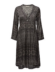 warm hearted dress - ALMOST BLACK