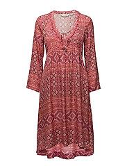 warm hearted dress - RASPBERRY