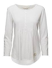 jersey girl l/s top - BRIGHT WHITE