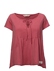 jersey girl s/s top - RASPBERRY