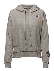 honey sweet hoodie - LIGHT GREY MELANGE