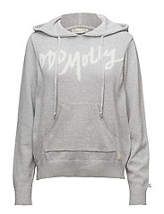 hey baby hood sweater - GREY MELANGE