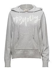 hey baby hood sweater - GREY MELANGE