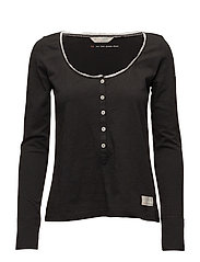 our town l/s top - ALMOST BLACK