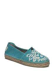 oddspadrillos embroidered - TURQUOISE