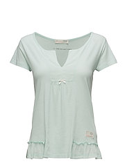 home-land s/s blouse - SOFT GREEN