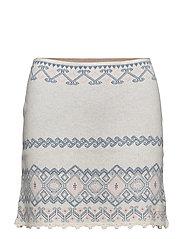 tropical heat skirt - CHALK