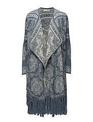 buzzard long cardigan - CHINA BLUE