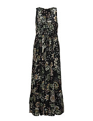 under the sea long dress - ALMOST BLACK