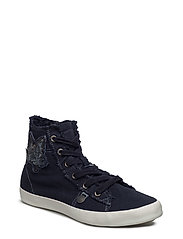 butterfly high sneakers - DARK BLUE