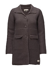 crochet grandma coat - VINTAGE DARK GREY