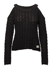 kniterie sweater - ALMOST BLACK