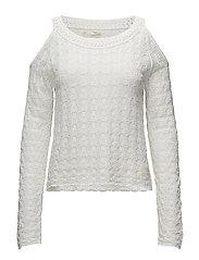 kniterie sweater - LIGHT CHALK