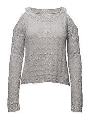 kniterie sweater - LIGHT GREY MELANGE