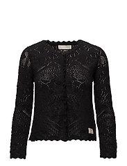 kniterie short cardigan - ALMOST BLACK