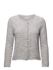 kniterie short cardigan - LIGHT GREY MELANGE