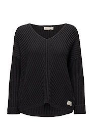 rib it in sweater - BLACK