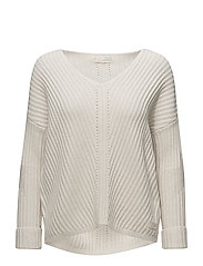 rib it in sweater - LIGHT CHALK