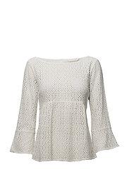 blousy blouse - LIGHT CHALK