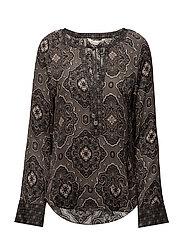 free floating l/s blouse - ASPHALT