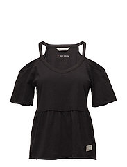 power lover top - ALMOST BLACK
