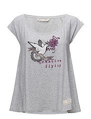 print love t-shirt - GREY MELANGE