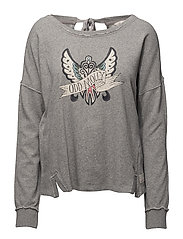 lounging around sweater - LIGHT GREY MELANGE