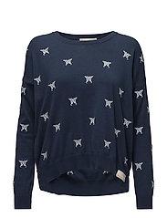 happyness sweater - DARK BLUE