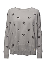 happyness sweater - LIGHT GREY
