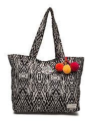 carried away shopper - BLACK MULTI