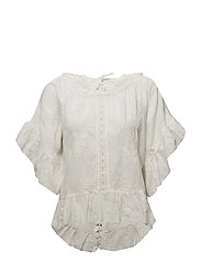 clever heart blouse - OFFWHITE