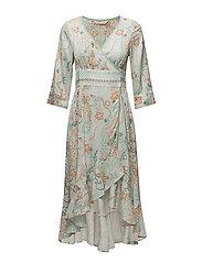 delicate long dress - SHADOW GREEN