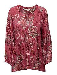 delicate l/s blouse - RASPBERRY