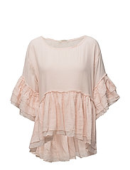 sunset berries l/s blouse - MILKY PEACH