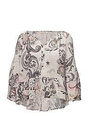 the gardener l/s blouse - LIGHT PORCELAIN