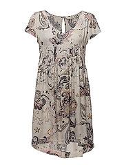 the gardener short dress - LIGHT PORCELAIN