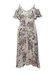 the gardener long dress - LIGHT PORCELAIN