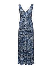 playful long dress - VINTAGE BLUE