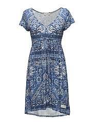 playful short dress - VINTAGE BLUE
