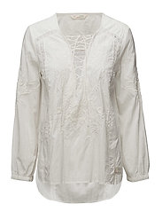 stand out l/s blouse - LIGHT CHALK