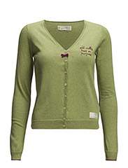 classic v-neck cardigan - GREEN