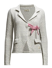 lovely knit jacket - GREY